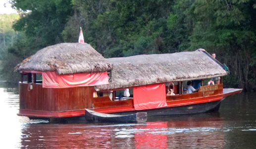 Dawn on the Amazon boat. Photo by Campbell Plowden/Center for Amazon Community Ecology
