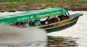 Rapido near Iquitos. Photo by Campbell Plowden/Center for Amazon Community Ecology