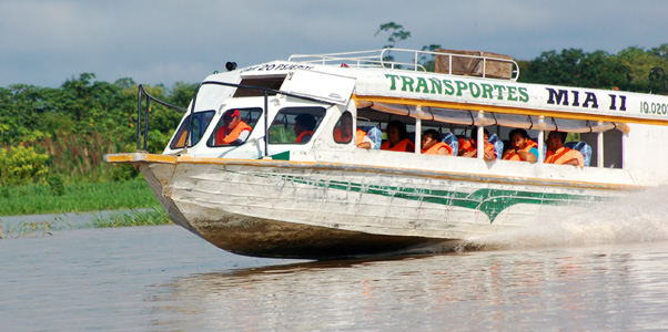 Rapido to Tamshiyacu. Photo by Campbell Plowden/Center for Amazon Community Ecology